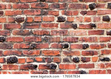 Old Red Brick Wall Building Exterior Background Texture Pattern