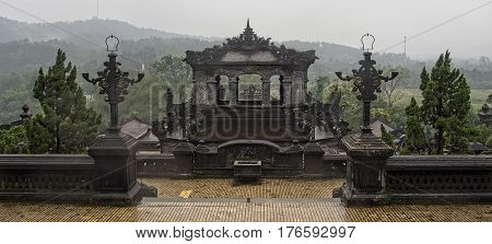 khai dinh tomb of vietnamese king scenic in hue vietnam
