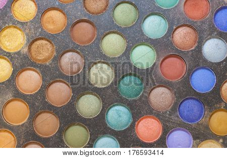 Color Palette Of Eye Shadow Makeup