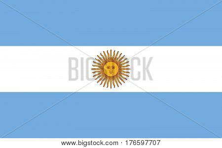 Official vector flag of Argentine Republic . ( Argentina )