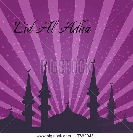 Muslim Community Festival of sacrifice Eid-Ul-Adha. Vector illustration
