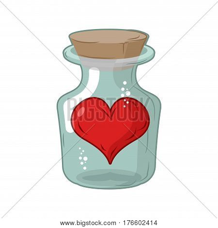 Heart In Jar. Love In Flask. Amur In Confinement Of Allegory