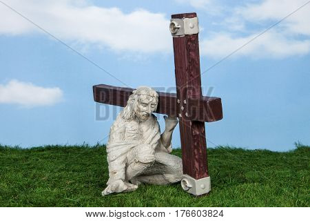 Holding The Cross