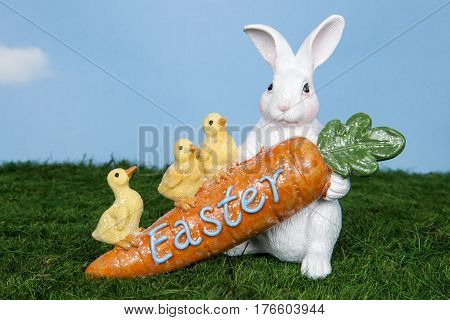 An Easter rabbit figurine for the holiday