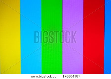 Color Tv With No Signal Background