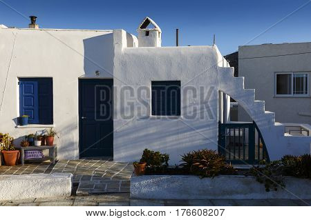 Old house in Chora village on Ios island, Greece.