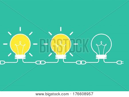 idea brainstorm concept, creative idea, business brainstorm concept, share idea concept with light bulb, creative design, vector illustration