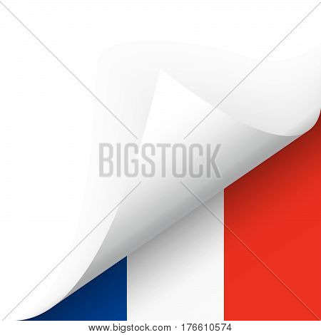 Bottom Corner With Country Flag Of France