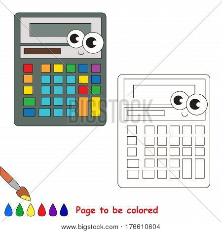 Calculator to be colored. Coloring book for preschool children.