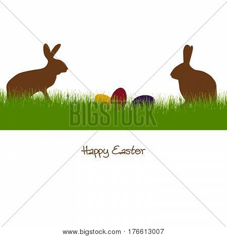Happy Easter - Silhouette