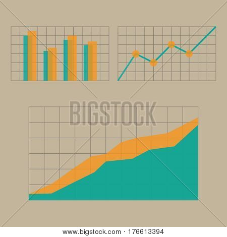 Graphs and charts. Business Chart Presentation Icon
