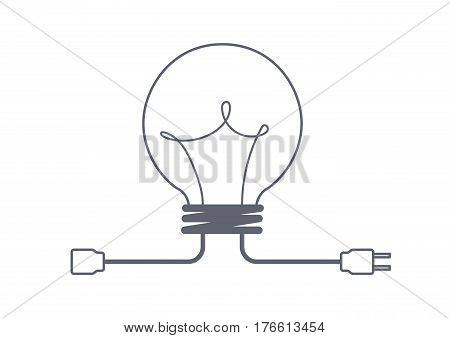 share idea concept with plug, creative idea, business idea concept, creative design, vector illustration