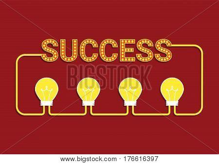 idea success concept, creative idea, business brainstorm concept, share idea concept with light bulb, creative design, vector illustration