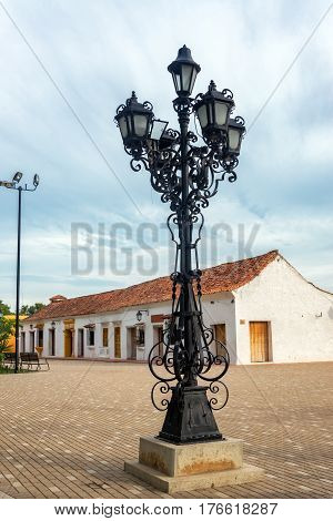 Street Lights In Mompox, Colombia