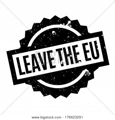 Leave The Eu rubber stamp. Grunge design with dust scratches. Effects can be easily removed for a clean, crisp look. Color is easily changed.