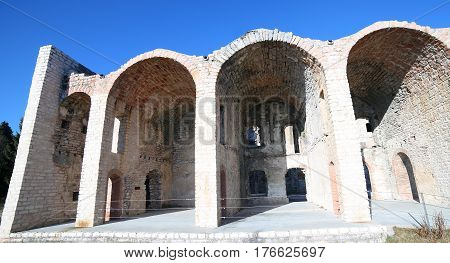 Asiago Italy The Fort Of World War I Called Forte Interrotto