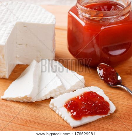 Brazilian Dessert Romeo And Juliet, Goiabada Jam Of Guava And Cheese