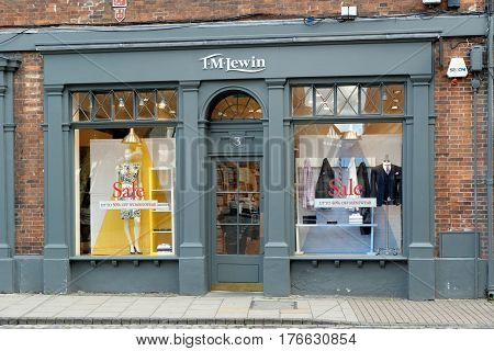Shop Front Of The T M Lewin Shirtmaker's In York, England.