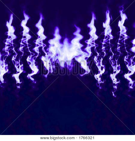 Fiery Blue Flames