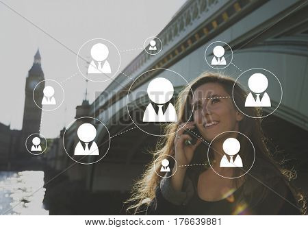 Social Network Connection Avatar Icon Vector