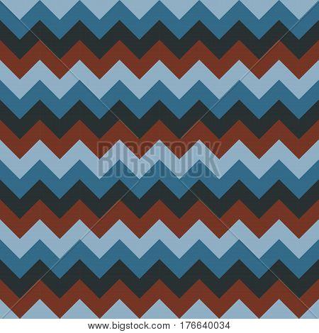 Chevron pattern seamless vector arrows geometric design colorful aqua blue naval dark blue dark red brown