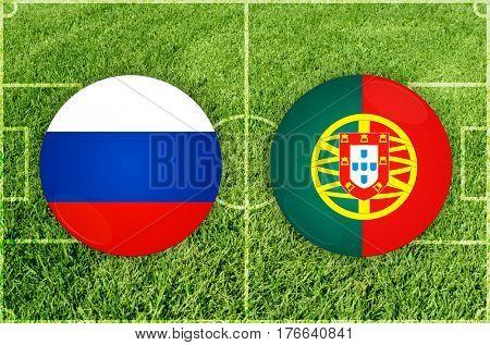 Confederations Cup football match Russia vs Portugal