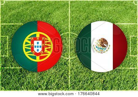 Confederations Cup football match Portugal vs Mexico
