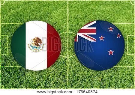 Confederations Cup football match Mexico vs New Zealand
