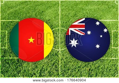 Confederations Cup football match Cameroon vs Australia