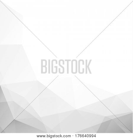 Abstract white texture with triangular geometric pattern