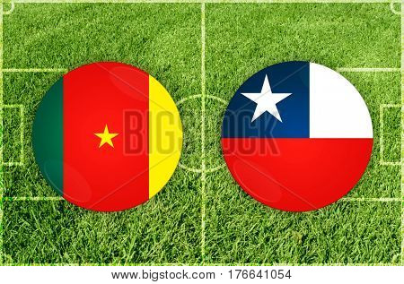 Confederations Cup football match Cameroon vs Chile