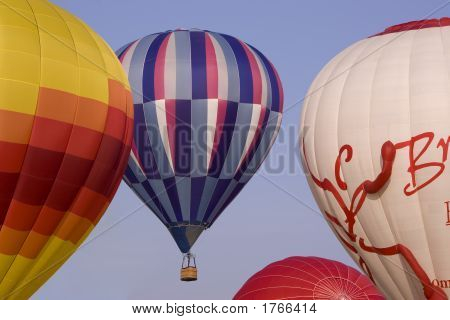 Hot Air Balloons On Takeoff