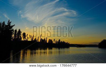 Ein Sonnenuntergang in Schweden, sweden at sunset, nature background