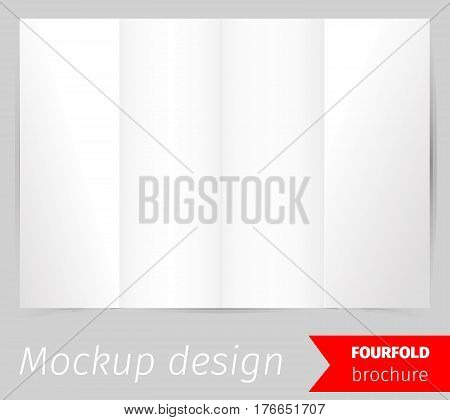 fourfold brochure vector photo free trial bigstock