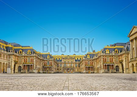versailles palace entrancesymbol of king louius XIV power France.