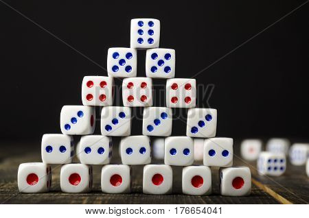 Dice On A Wooden Table
