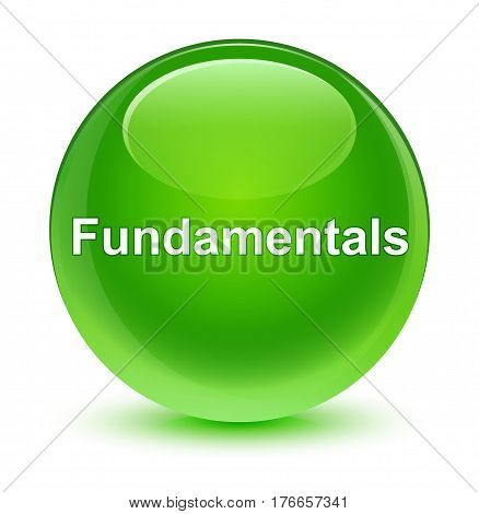 Fundamentals Glassy Green Round Button