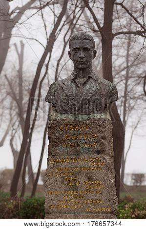 Monument to the national hero Atanas Manchev situated in the bulgarian city Burgas