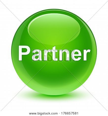 Partner Glassy Green Round Button