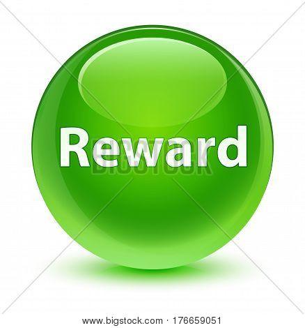 Reward Glassy Green Round Button