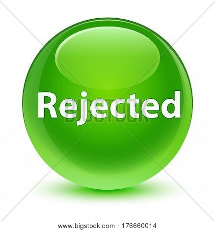 Rejected Glassy Green Round Button