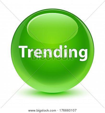 Trending Glassy Green Round Button