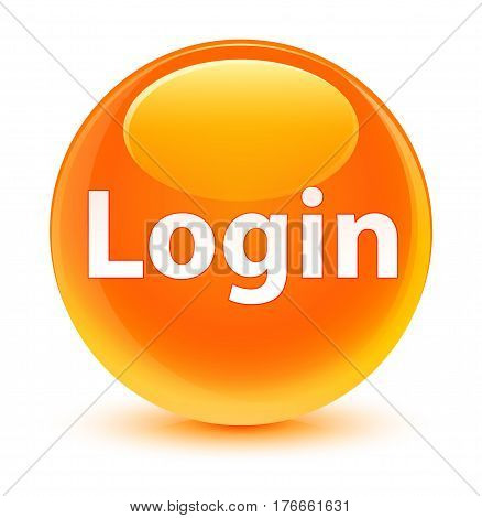 Login Glassy Orange Round Button
