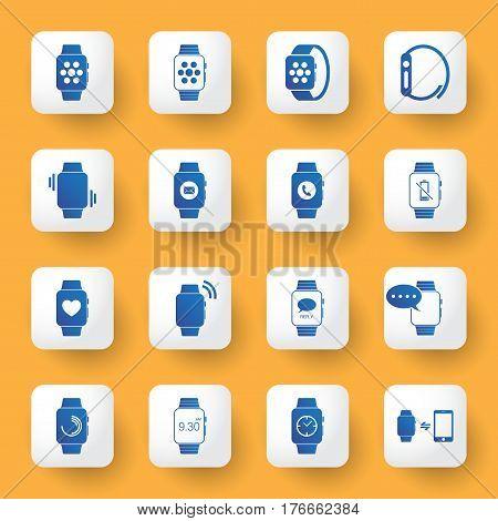 application design icons set. digital watch sign and symbol artwork.vector illustration.