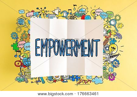 Empowerment Text With Colorful Illustrations