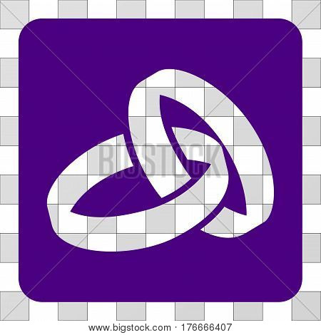 Wedding Rings interface icon. Vector pictogram style is a flat symbol hole on a rounded square shape, indigo blue color.
