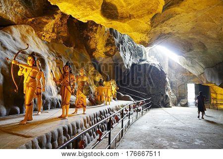 RAMAYANA CAVES, JANUARY 10, 2017 - Ramayana Caves - Batu Caves, Kuala Lumpur, Malaysia, Asia
