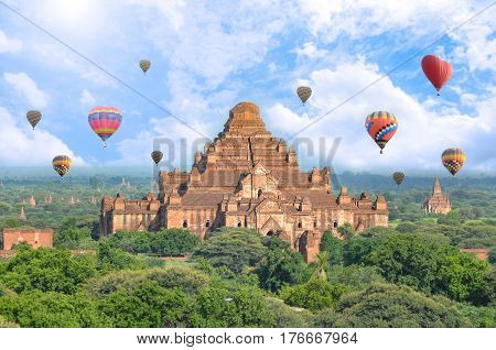 Dhammayangyi Temple is a largest Buddhist temple located in Bagan Myanmar.