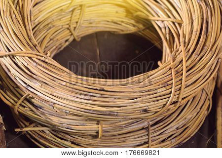rattan materials used to make basket or furniture such as sofa