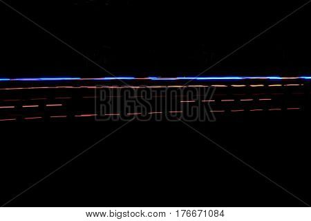 lights in motion at night background abstract